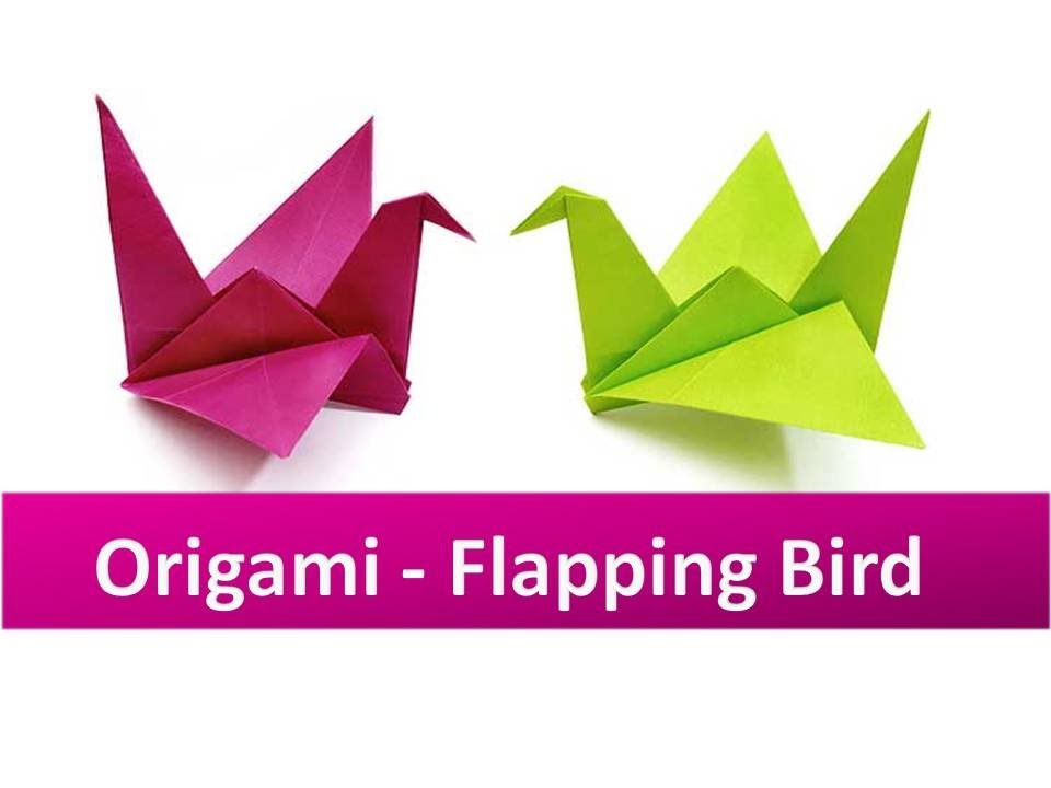Paper Bird Origami Flapping Bird - Easy Steps - YouTube | 720x960
